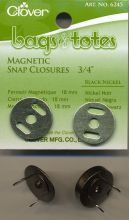 Clover - magnetic latch - black nickel