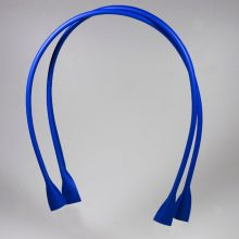 Handle for bags - natural  lether - Blue