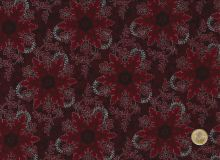 Hoffman Fabrics - Pear Tree Greatings - Red