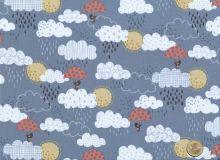 Makower - Windy Day - Clouds grey blue