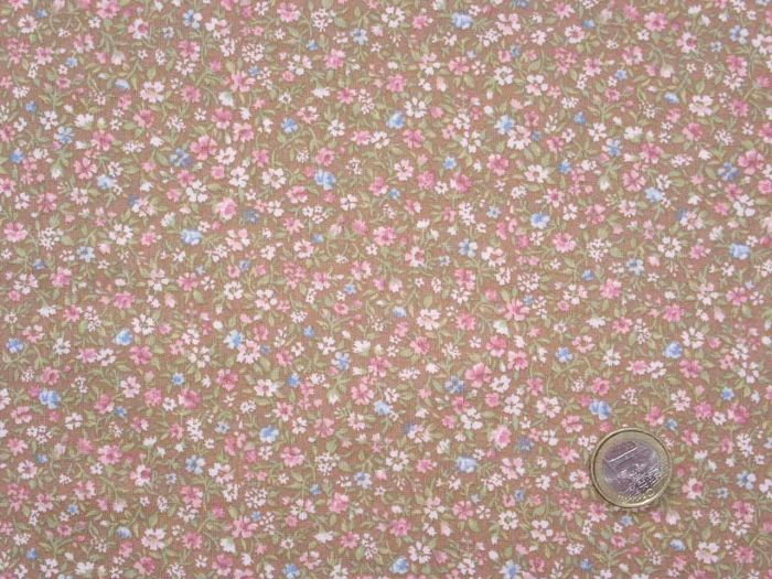 Quilt Gate - Flowering Field - pink and light-blue