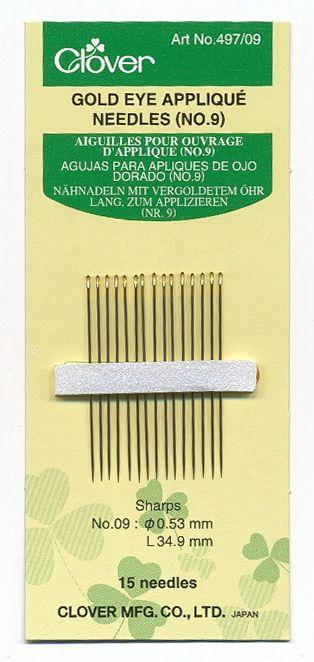 Clover - sewing needles   appliqu? Nr. 9