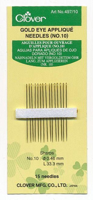 Clover - sewing needles   appliqu? Nr. 10