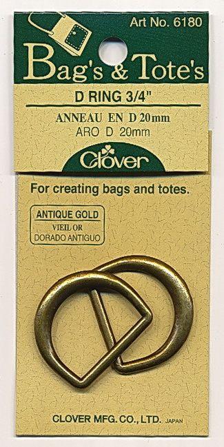 Clover -  D-Ring  gold - 20 mm