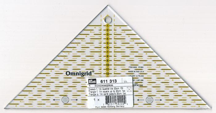 Prym - Omnigrid ruler  triangle - 20 cm