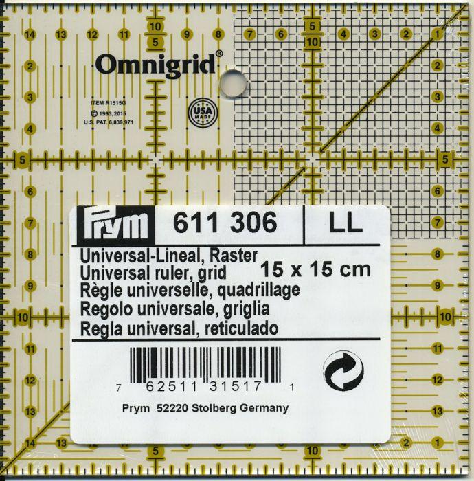 Prym - ruler 15 x 15 cm