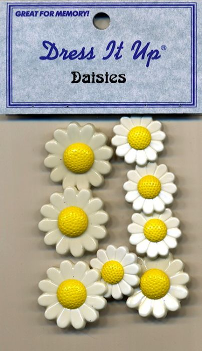 Dress it up Buttons - Daisies