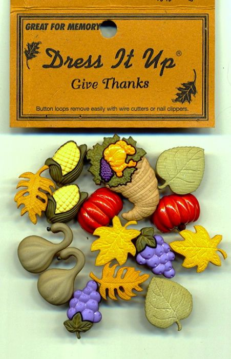 Dress it up Buttons - Give Thanks