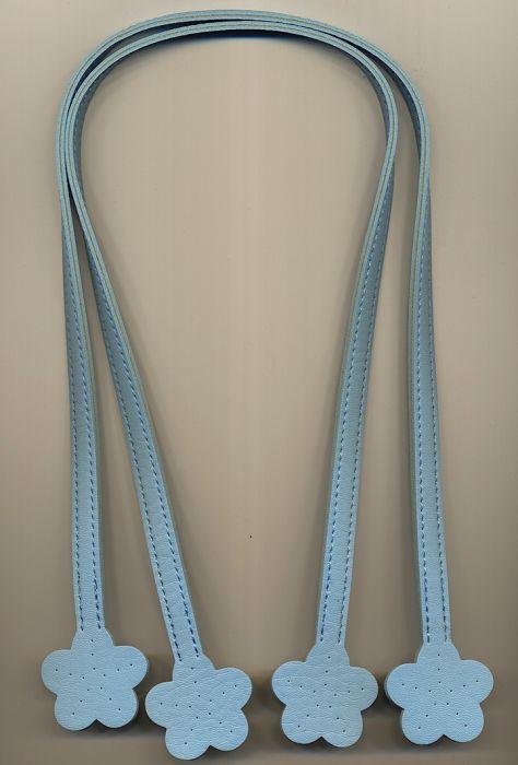 Taschenbügel 60 cm - Kunststoff in Lederoptik - Hellblau