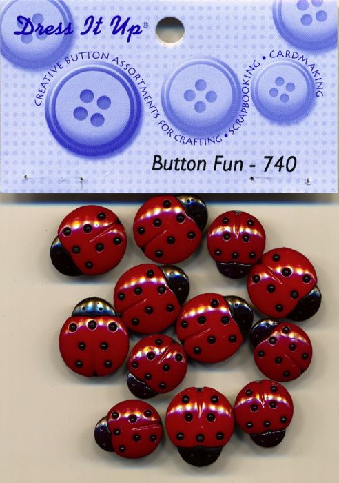 Dress it up Buttons - Marienk?fer