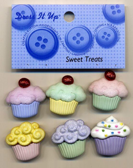 Dress it up Buttons - Sweet Treats