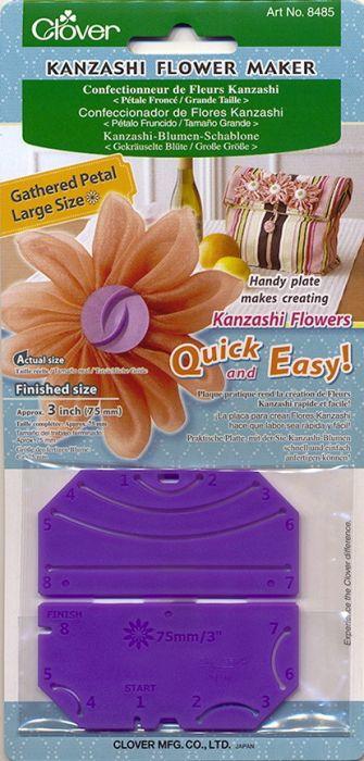 Clover - Kanzashi Blüten Schablone - Gekräuselte Blüte Groß