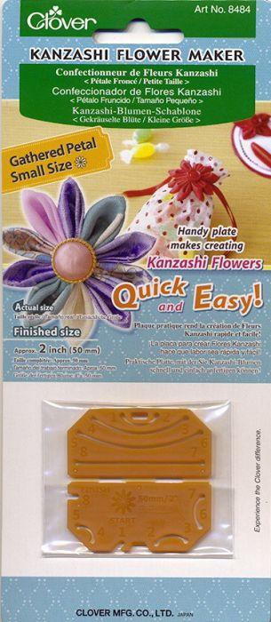 Clover - Kanzashi Blüten Schablone - Gekräuselte Blüte Klein
