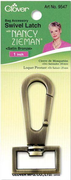 Clover - Karabinerhaken - Satin Bronze - 25 mm