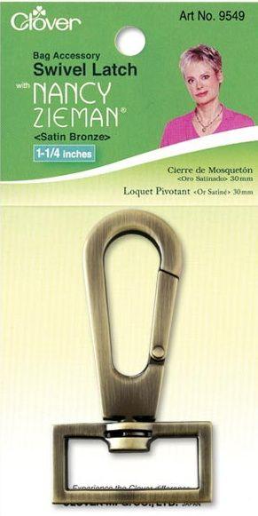 Clover - Karabinerhaken - Satin Bronze - 30 mm