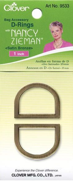 Clover - D-Ringe - Satin Bronze - 25 mm