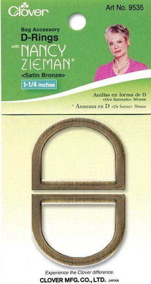 Clover - D-Ringe - Satin Bronze - 30 mm