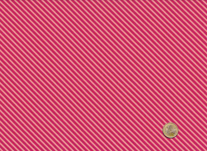 Makower - Candy Stripes - Ruby