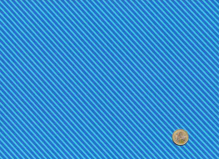 Makower - Candy Stripes - Electric Blue