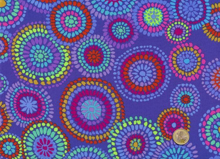 Kaffe Fassett - Mosaic Circles - Blue