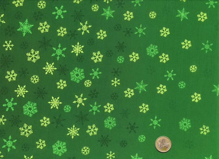 Makower- Ombre - Snowflake - Green