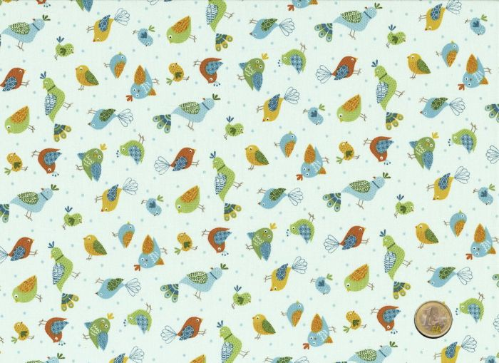 Makower - Jungle Birds - Creme