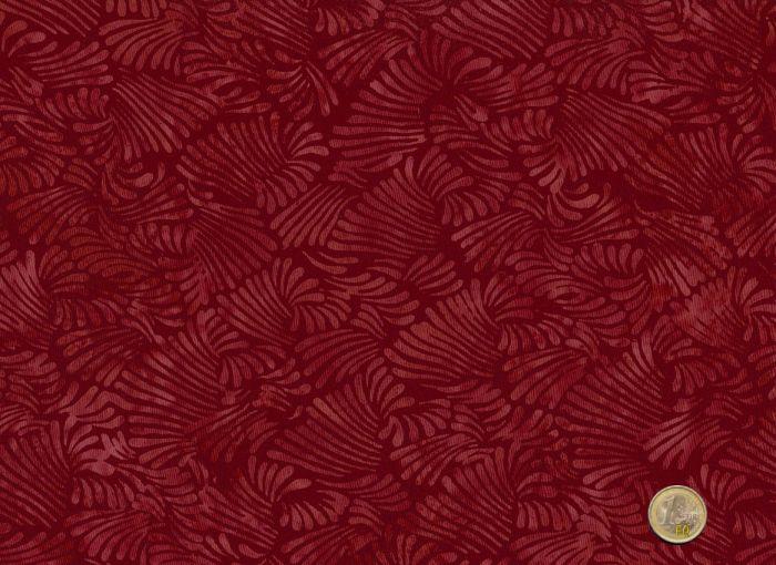 Hoffman Fabrics - Bali Handpaint - Fächer rot