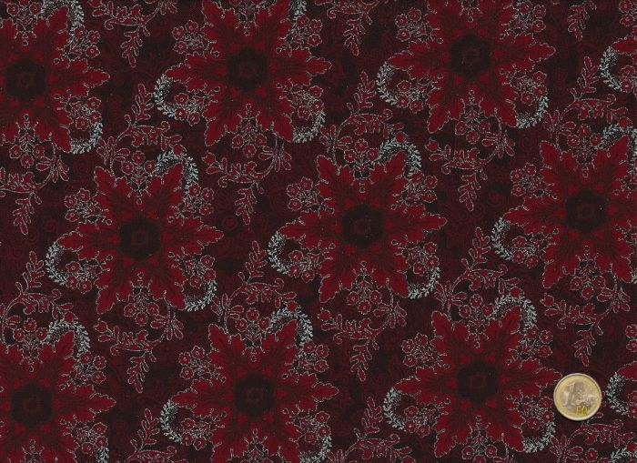Hoffman Fabrics - Pear Tree Greatings - Red
