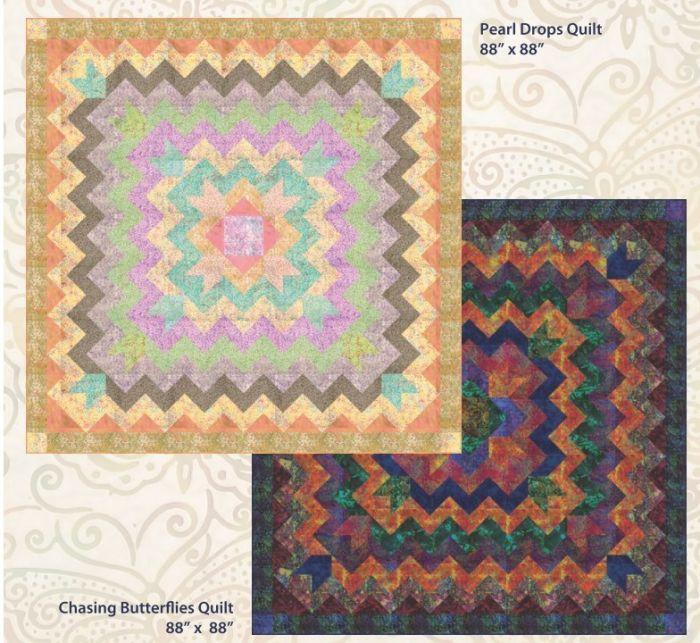 Batik by Mirah - Pearl Drops  / Chasing Butterflies