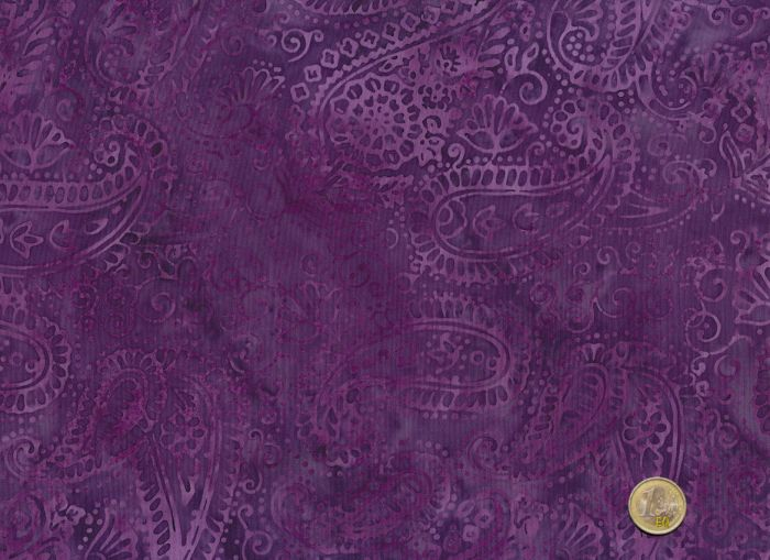 Island Batik - Paisleymuster in erikaviolett