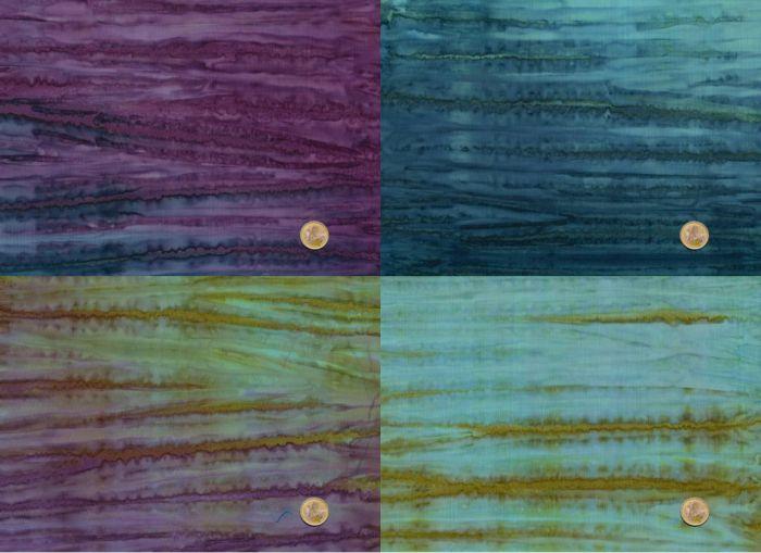 Batik -  Long Quarter Paket - A Splash of color