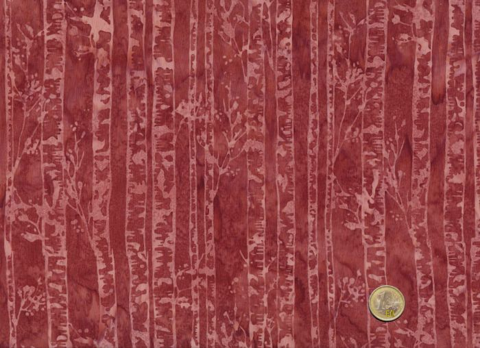 Hoffman Fabrics - Bali Handpaints - Birkenstämme Rotbraun
