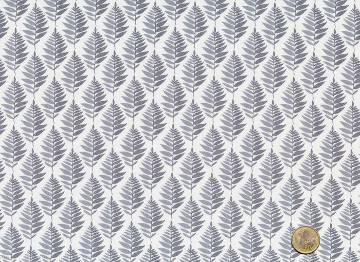 Makower  -  Fern Garden Fern Geo Grey