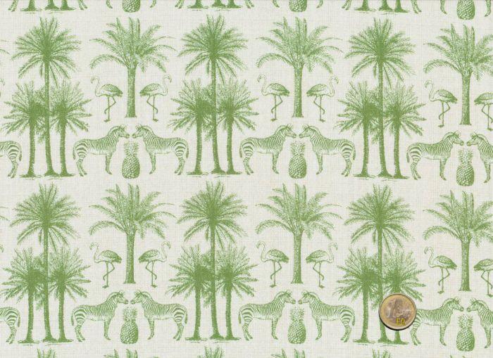 Makower - Fern Garden Palm Green
