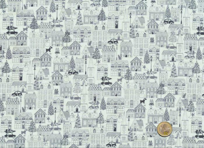 Makower Houses Grey Scandi