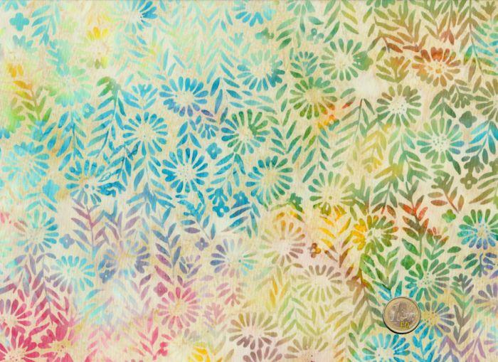 Island Batik - Blossoms on cream