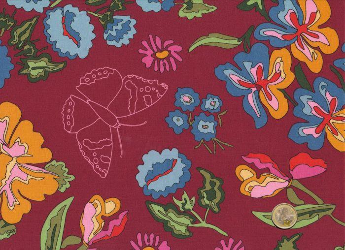 Mez - Nordic Garden Dream - Große Blüten Weinrot