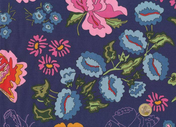 Mez - Big Blossoms Blue - Nordic Garden Dream