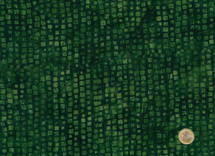 Hoffman Fabrics - Bali Handpaints - Steinchen dunkelgrün