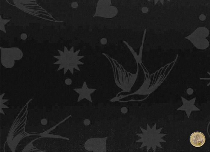 Tula Pink - Fairy Flakes black - Linework