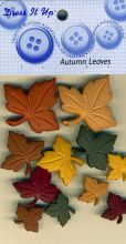 Dress it up Buttons - Autumn Leaves