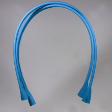Handle for bags - natural  leather 80 cm - turquoise