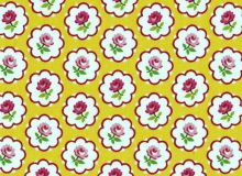 Patchworkstoff Lakehouse - Pam Kitty Buttons - Rosen