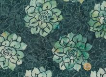 Hoffman Fabrics - Bali Handpaints - Blossoms petrol