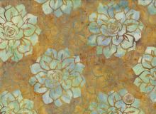 Hoffman Fabrics - Bali Handpaints - Blossoms  brown