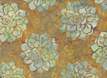 Hoffman Fabrics - Bali Handpaints - Blüten Hellbraun