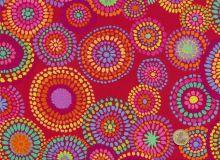 Kaffe Fassett - Red - Mosaic Circles