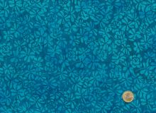 Island Batik - Blossoms turquoise