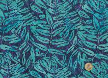 Island Batik - Leaves turquoise