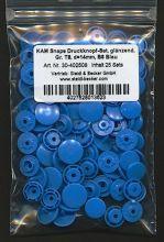 Kam Snap T8 - Druckknöpfe - 25er Packung - Blau